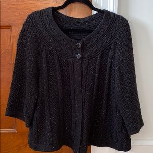 Speckled knit poncho/jacket
